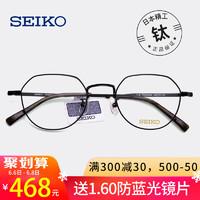 日本精工眼镜框 + 1.60防蓝光镜片