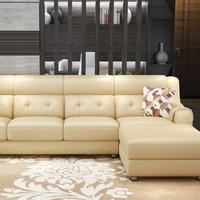 A家家具 XXG202 真皮沙发组合 3人位+右贵妃位