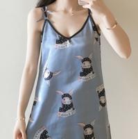 婕香 女士冰丝吊带睡衣 M-XXL码 送眼罩 22款可选