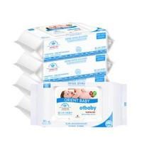 otbaby 婴儿手口湿巾 带盖装 80抽5包 *6件