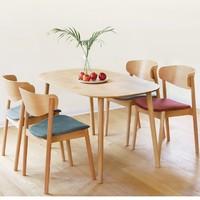 样子 多人味环抱餐桌椅套装 一桌四椅