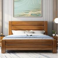 丰圆藤木 实木双人床 1.8*2米胡桃色 单床 框架结构