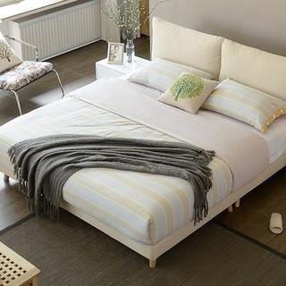 A家家具 DA0120-180 可拆洗软靠床 1.8米 米黄色