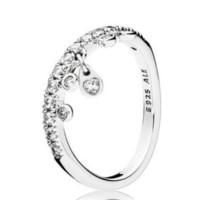 PANDORA 潘多拉 197108CZ 925银 吊饰水滴戒指