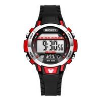 迪士尼(Disney)手表 男生多功能户外运动电子表防水学生表运动计时表红色MK-15063R