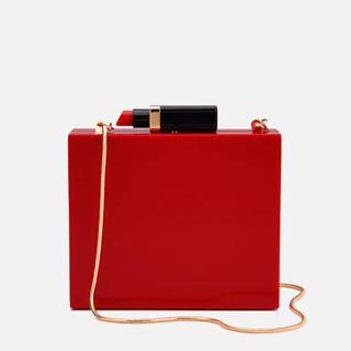 LULU GUINNESS 女士口红箱型单肩包