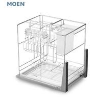 MOEN 摩恩 KAC03 厨房拉篮调味品篮调味品置物架 (435x230x430mm)