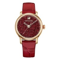SWAROVSKI 施华洛世奇 Crystalline 红色女款手表 5295380