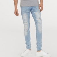 H&M HM0606322 男士中腰紧身牛仔裤