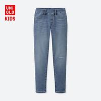UNIQLO 优衣库 女童 高弹力牛仔紧身长裤