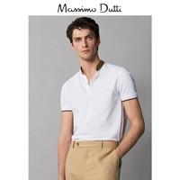 春夏大促 Massimo Dutti 男装 2019新款夏季立领POLO衫男士夏装短袖上衣 00701202250