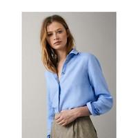 Massimo Dutti 05115512403 女士亚麻衬衫