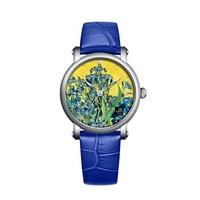 Van Gogh(梵高)瑞士手表油画系列《生养紫色鸢尾花的花瓶》原装进口荷兰品牌复古潮牌石英表 女表 lady10