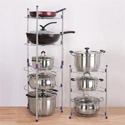 不锈钢厨房锅架置物架 五层锅架