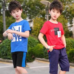 童装男童夏装套装2019新款夏季中大童休闲男孩短袖儿童帅气两件套