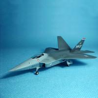 TRUMPETER/小号手 拼装军事飞机模型01331仿真1/144二战YF-22猛禽战斗机航模