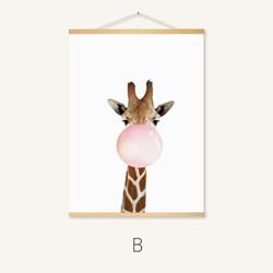 北欧可爱动物客厅装饰画餐厅挂画