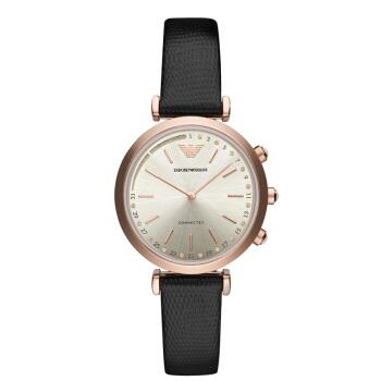 阿玛尼(Emporio Armani)手表 第4代新款轻奢时尚商务欧美智能腕表 女士表石英细腕带 ART3027