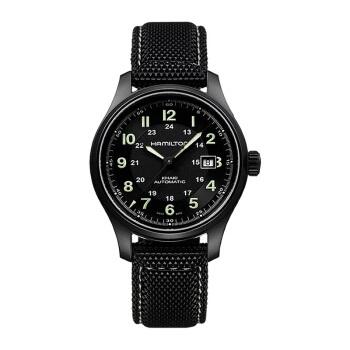 汉米尔顿(HAMILTON)瑞士手表卡其野战系列42毫米钛合金版自动机械男士腕表H70575733