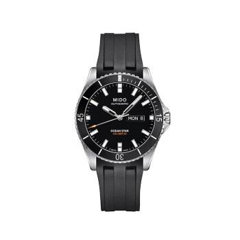 MIDO 美度 OCEAN STAR 领航者系列  42.5mm 黑盘 橡胶表带 黑色 圆形