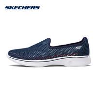 SKECHERS 斯凯奇 14905 镂空透气网眼健步休闲鞋 (39、黑色/白色/BKW)