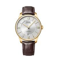格雅(GEYA)手表 男机械表简约时尚男士全自动机械手表真皮表带防水男表JD78020