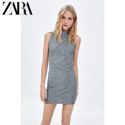 ZARA 新款 TRF 女装 金属色线连衣裙 00909346808