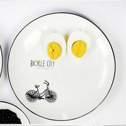 点心盘陶瓷圆形早餐盘20cm