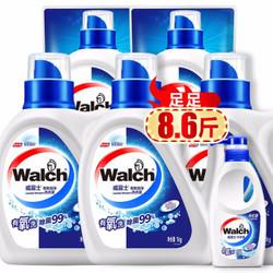 威露士双效有氧除菌洗衣液套装瓶装1kg*3+补充装500g*2+内衣净300g
