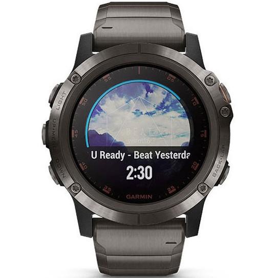 GARMIN 佳明 fenix5X Plus 运动心率智能手表  钛合金aDLC蓝宝石镜面款