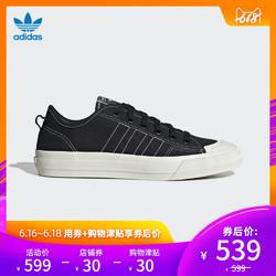 阿迪达斯官方adidas三叶草 NIZZA RF男女经典帆布鞋EE5599 EF1883