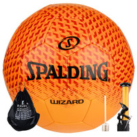 SPALDING官方旗舰店WIZARD系列红/橙色 5号机缝足球 64-924Y