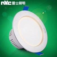 雷 士照明東東 筒灯led 牛眼灯筒灯射灯光源 3W暖白光 漆白  (开孔尺寸7.5-9厘米) *3件