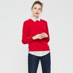 MAXWIN 马威 183246160 女士套头纯色卫衣