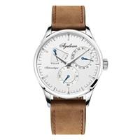 艾戈勒(agelocer)布达佩斯系列瑞士手表 三针全自动多功能商务男手表机械表防水带日历动能指示 4101A2