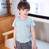 七匹狼童装 男童短袖t恤