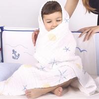 SPIRIT KIDS 全棉印花婴儿纱布浴巾 110*110厘米