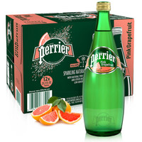 Perrier 巴黎水 含气天然矿泉水 西柚味 750ml*12瓶 *3件