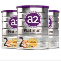 a2 艾尔 Platinum酪蛋白白金版 婴幼儿奶粉 2段 900g 3罐装