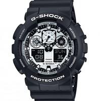 CASIO 卡西欧 G-Shock GA100BW-1A 男士时装腕表