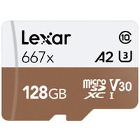 Lexar 雷克沙 667x microSDXC A2 UHS-I U3 TF存储卡 128GB