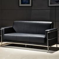欧宝美办公沙发会客接待沙发商务沙发简约现代办公室沙发 3人位
