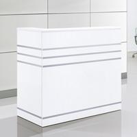 卡奈登  白色烤漆公司办公接待咨询服务前台桌 收银台 吧台 办公家具  1200*600*1130毫米  XY-A-83