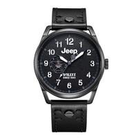 吉普(JEEP)手表 威利斯系列 全自动机械表男表 镂空男士腕表 皮带防水 经典美式军表 JPL200201MA