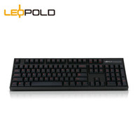 Leopold 利奥博德 FC900R PD加厚 机械键盘 Cherry轴 黑色红字款
