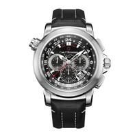 宝齐莱(Carl F. Bucherer)瑞士手表 柏拉维系列三地时间计时码表 机械男表 00.10620.08.33.01