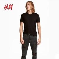 H&M HM0542533 男装纯色短袖T恤 三件装