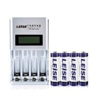 LEISE 雷摄 四槽智能充电器+8节5号2700毫安镍氢充电电池