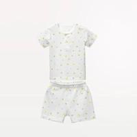 Les enphants 丽婴房 儿童纯棉短袖内衣套装
