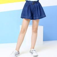 Annil 安奈儿 童装 女童牛仔短裤 *2件